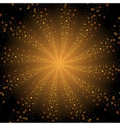 Abstract golden stars whirlpool background vector