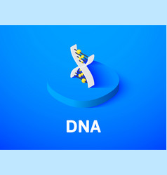 dna isometric icon isolated on color background vector image