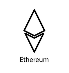 ethereum icon for internet money crypto currency vector image