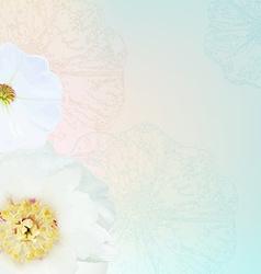 Flower Border vector image vector image