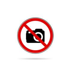 no camera icon vector image vector image