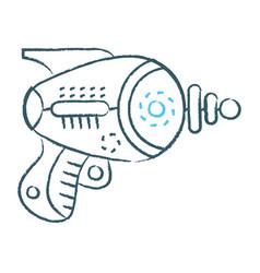 Space laser ray gun toy icon vector