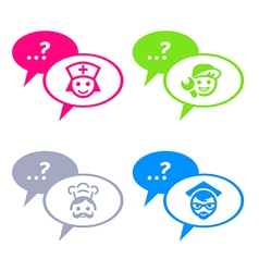Chat with professionals vector image vector image