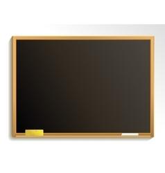 Empty blackboard with chalk and sponge vector image vector image