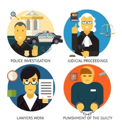 Justice Law and Order Legal Services Symbol Crime vector image