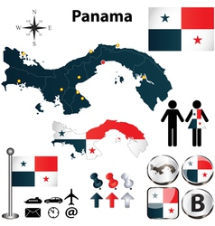 Map of Panama vector image