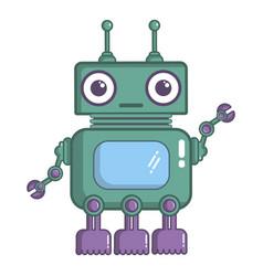 robotic toy icon cartoon style vector image