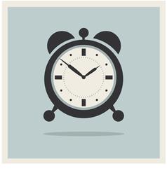 Alarm Clock on Retro Blue Background vector image vector image