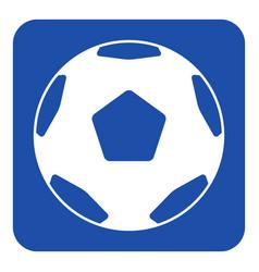 Blue white sign - classical football soccer ball vector
