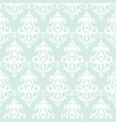 damask seamless pattern background pastel blue vector image