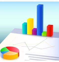 Financial charts and graphs vector image vector image