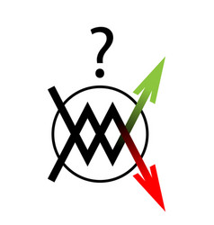 icon arrow up down move vector image vector image