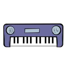 synthesizer icon cartoon vector image