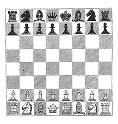 Chess vintage engraving vector image