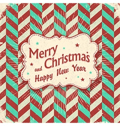 christmas lettering card design aged with rays vector image vector image