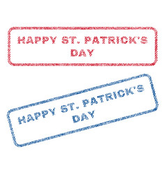 happy stpatrick s day textile stamps vector image vector image