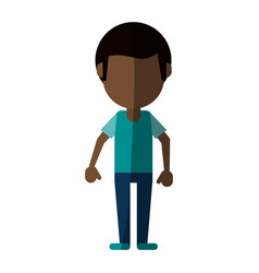 man cartoon isolated casual vector image