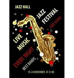 Retro styled Jazz festival Poster Abstract style vector image