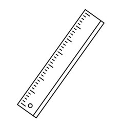 ruler icon outline style vector image vector image