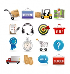 shopping and logistic vector image vector image