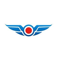 wing emblem fly logo vector image