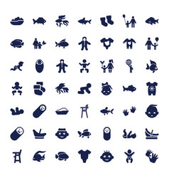 49 little icons vector