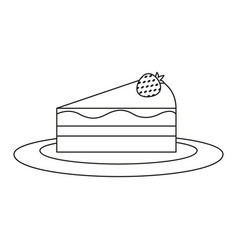 A piece of cheesecake icon cake panna vector