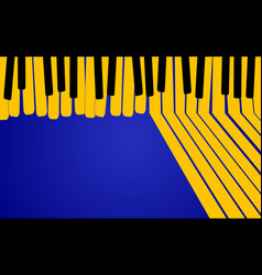 abstract music background yellow piano keys on vector image