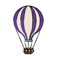 airballoon adventure recreational fly basket vector image