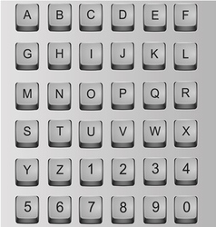 Alphabet and numbers vector image vector image