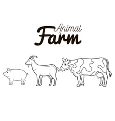 animals farm group icon vector image