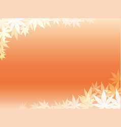 Autumn leaf frame 2 vector