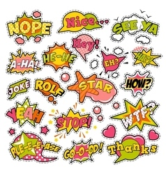 Badges Stickers Comic Speech Bubbles Set vector image