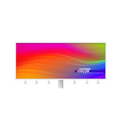 Billboard with colorful liquid shape stream of vector