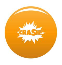 comic boom crash icon orange vector image