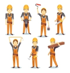 Construction engineering industrial workers vector