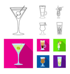 design liquor and restaurant sign set vector image