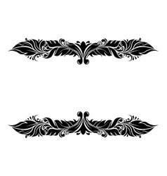 Dividers filigree floral decorations isolated vector