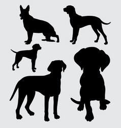dog animal silhouette vector image