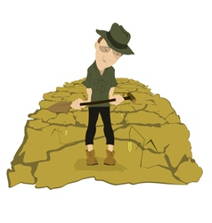 Drought on the farmer field vector image