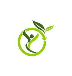 Eco life healthy vector