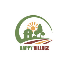 eco village stylized symbol vector image