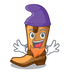 Elf cowboy boots in the shape cartoon vector
