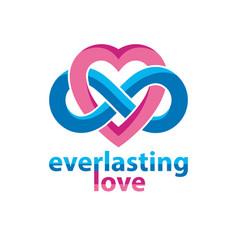 Everlasting love concept symbol created vector