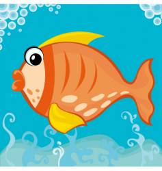 Fat fish vector