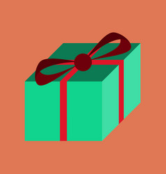 Flat on background of gift box vector
