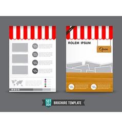 Flyer Brochure background template 0004 vector image