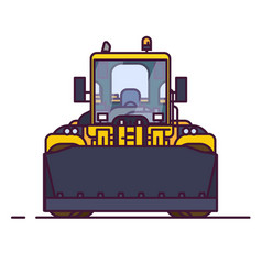 front view wheel loader vector image