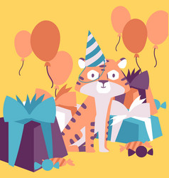 happy birthday celebration party vector image