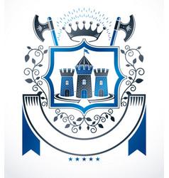 heraldic signs vintage elements vector image